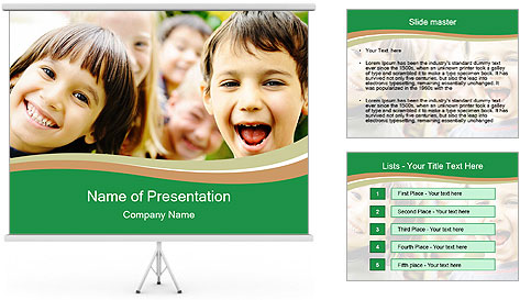 Cheerful Kids PowerPoint Template