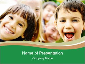 Cheerful Kids PowerPoint Template - Slide 1