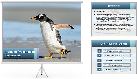Funny Penguin PowerPoint Template