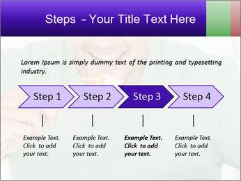 Man Having Lunch PowerPoint Templates - Slide 4