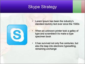 Man Having Lunch PowerPoint Templates - Slide 8
