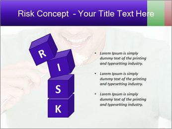 Man Having Lunch PowerPoint Templates - Slide 81