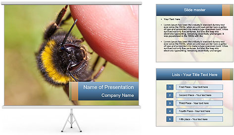 Macro Bee PowerPoint Template