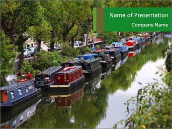 Regents Canal PowerPoint Template - Slide 1