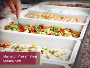 Salads PowerPoint Template - Slide 1