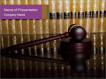 Gavel Judge PowerPoint Template
