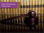 Gavel Judge PowerPoint Template