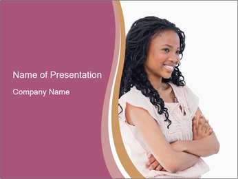 Joyful African Woman PowerPoint Template