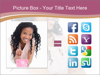 Joyful African Woman PowerPoint Template - Slide 21