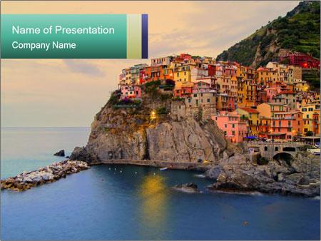 Italian Seaside Village PowerPoint Templates