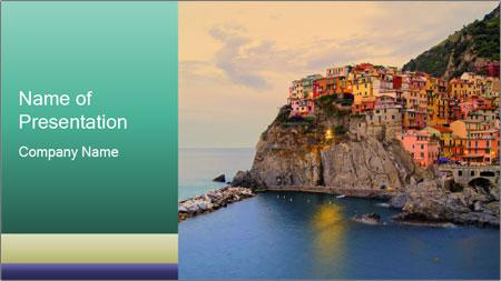 Italian Seaside Village PowerPoint Template