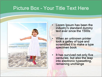 Small Girl In Pink Swimsuit PowerPoint Template - Slide 13