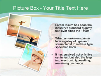 Small Girl In Pink Swimsuit PowerPoint Template - Slide 17