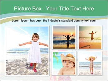 Small Girl In Pink Swimsuit PowerPoint Template - Slide 19