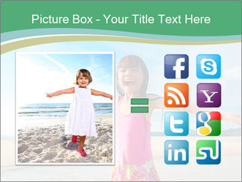Small Girl In Pink Swimsuit PowerPoint Template - Slide 21