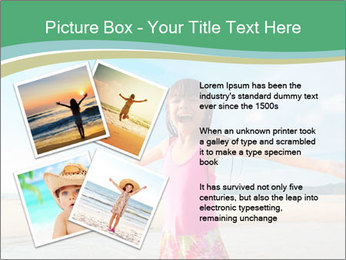 Small Girl In Pink Swimsuit PowerPoint Template - Slide 23