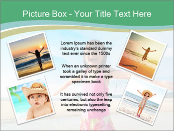 Small Girl In Pink Swimsuit PowerPoint Template - Slide 24