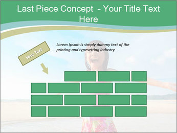Small Girl In Pink Swimsuit PowerPoint Template - Slide 46