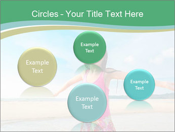 Small Girl In Pink Swimsuit PowerPoint Template - Slide 77