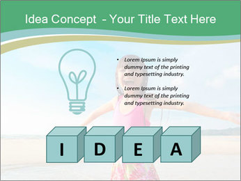 Small Girl In Pink Swimsuit PowerPoint Template - Slide 80