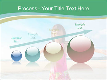 Small Girl In Pink Swimsuit PowerPoint Template - Slide 87