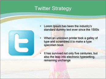 Small Girl In Pink Swimsuit PowerPoint Template - Slide 9