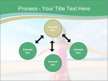 Small Girl In Pink Swimsuit PowerPoint Template - Slide 91