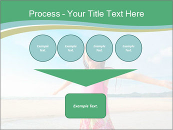 Small Girl In Pink Swimsuit PowerPoint Template - Slide 93