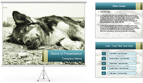 Sad Dog PowerPoint Template