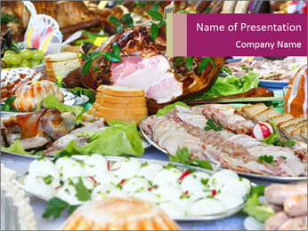 Polish Traditional Easter Dinner PowerPoint Template