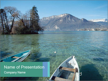 Lake In France PowerPoint Template