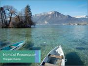 Lake In France PowerPoint Templates