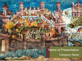 Medieval Fresco Art PowerPoint Template