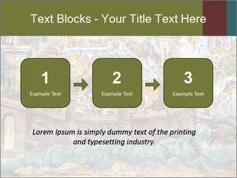 Medieval Fresco Art PowerPoint Template - Slide 71