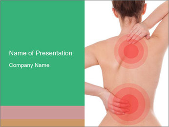 Woman With Spine Injury PowerPoint Template