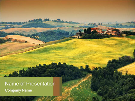 Green Farmland PowerPoint Templates