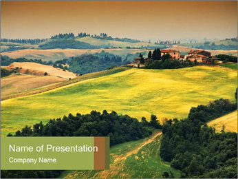 Green Farmland PowerPoint Templates - Slide 1