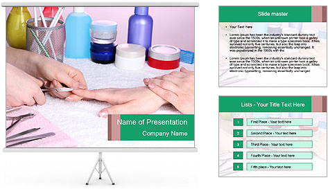 Manicur Treatment PowerPoint Template