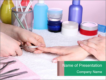 Manicur Treatment PowerPoint Templates - Slide 1