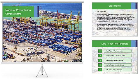 Huge Port PowerPoint Template