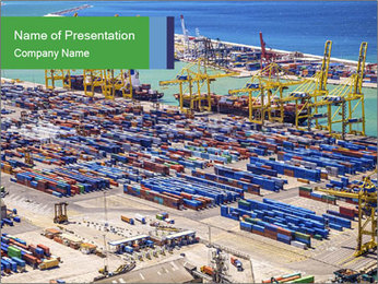 Huge Port PowerPoint Template - Slide 1