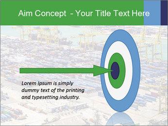 Huge Port PowerPoint Template - Slide 83