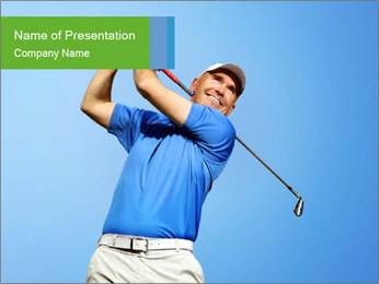 Smiling Golfer PowerPoint Template
