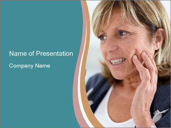 Woman With Dental Issue PowerPoint Templates - Slide 1