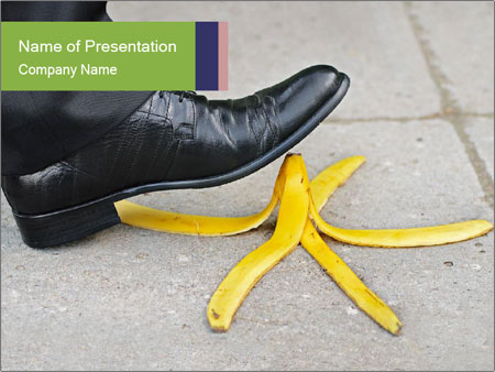Slide On Banana Peel PowerPoint Template