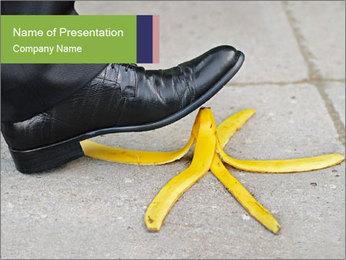 Slide On Banana Peel PowerPoint Template - Slide 1