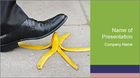 Slide On Banana Peel PowerPoint Template