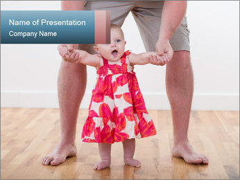 Father With Baby Girl PowerPoint Template - Slide 1