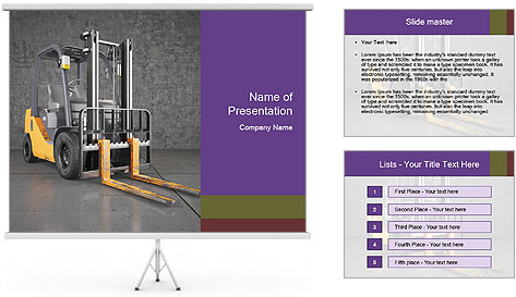 Lifter Machine PowerPoint Template