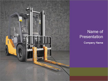 Lifter Machine PowerPoint Template - Slide 1